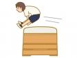 跳び箱を飛んでいるイラスト02