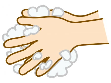 石鹸で手洗いのイラスト