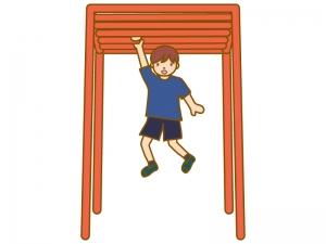 うんていをする少年のイラスト02