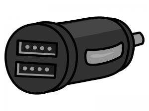 USBのシガーソケットチャージャーのイラスト