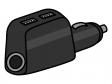 USBのシガーソケットチャージャーのイラスト02