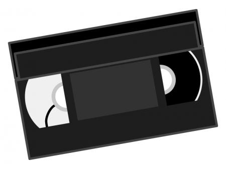 ビデオテープのイラスト