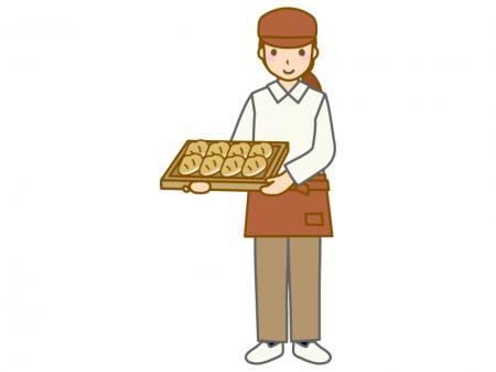 パン屋の店員さんのイラスト02