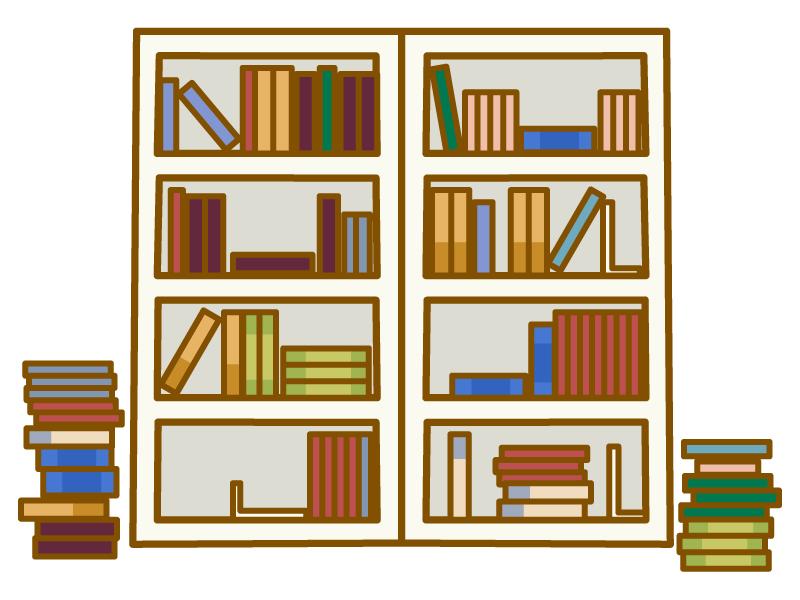 本棚のイラスト02
