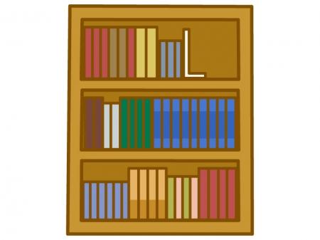 整頓された本棚のイラスト