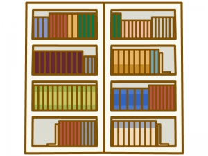整頓された本棚のイラスト02