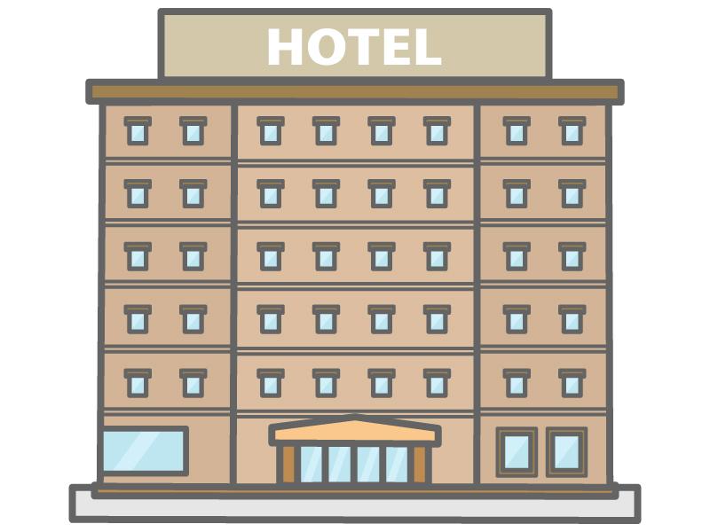 ビジネスホテルのイラスト02