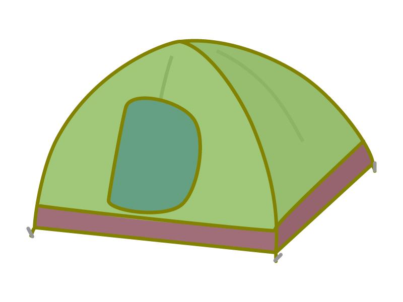 キャンプのテントのイラスト
