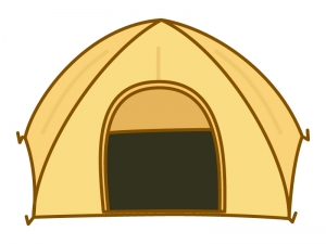キャンプのテントのイラスト02