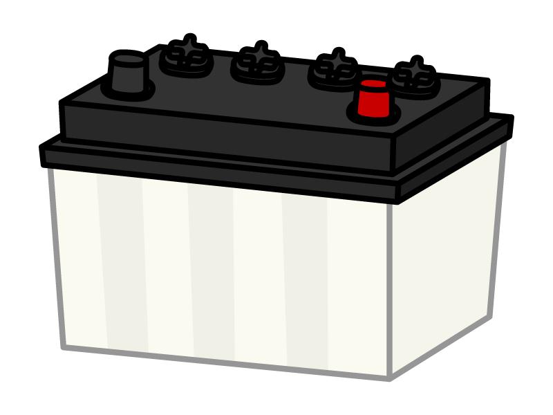 車のバッテリーのイラスト