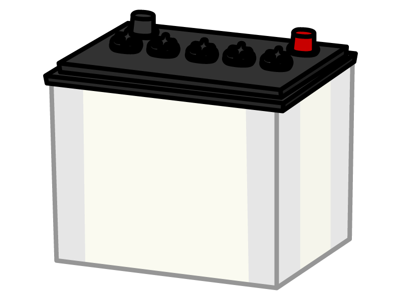 車のバッテリーのイラスト02