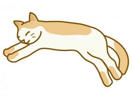寝ている猫のイラスト