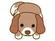 伏せをする犬のイラスト