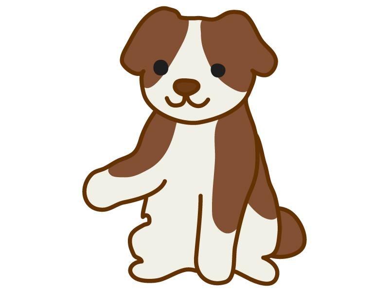 お手をする犬のイラスト02