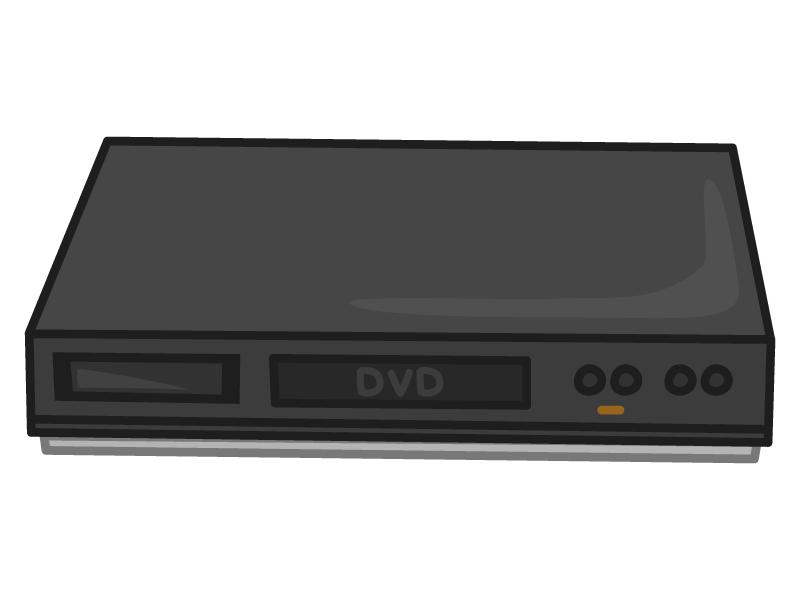 DVDプレイヤー・レコーダーのイラスト
