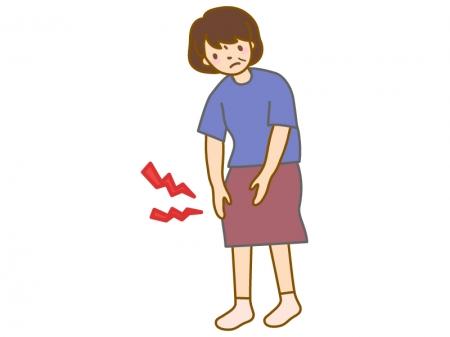 膝の痛み・疲れ(女性)のイラスト