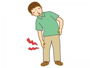 膝の痛み・関節痛(男性)のイラスト