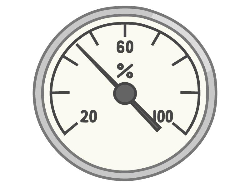 湿度計(アナログ)のイラスト