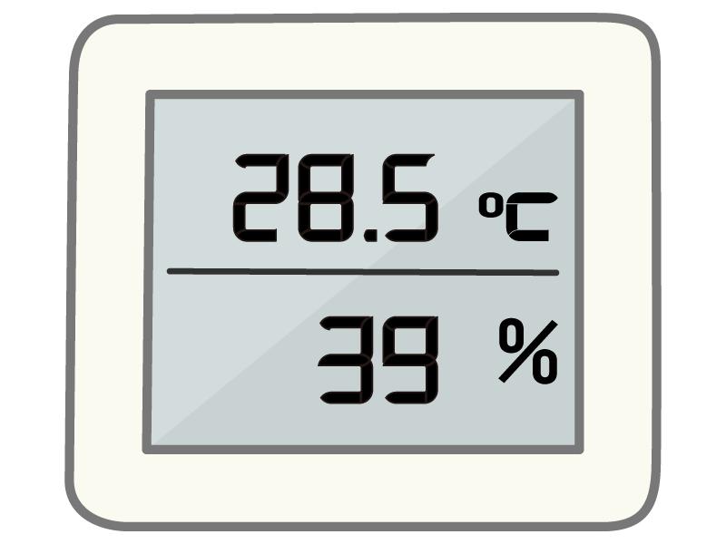 温湿度計(デジタル)のイラスト