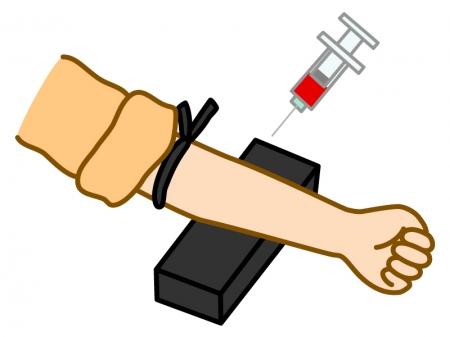 採血・血液検査のイラスト02
