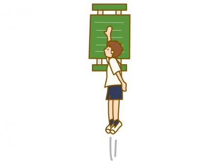 垂直跳びのイラスト