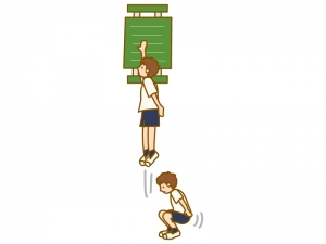 垂直跳びのイラスト02