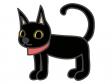 ハロウィン・黒猫のイラスト