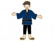 ハッピを着た男性のイラスト
