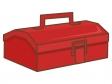 赤い工具箱のイラスト