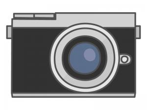 ミラーレスカメラのイラスト