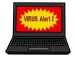 セキュリティアラートが表示されたパソコンのイラスト