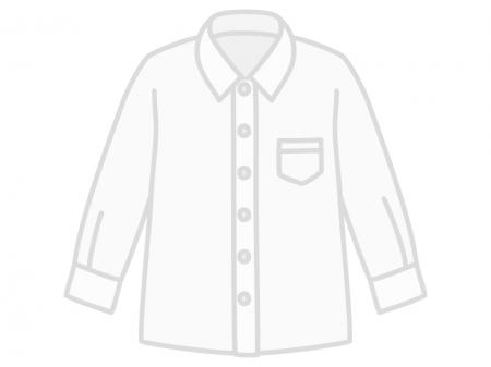 白いYシャツのイラスト