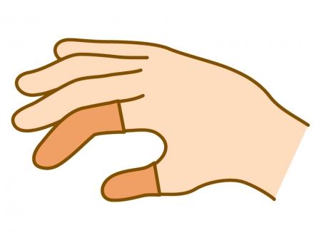 指サックのイラスト