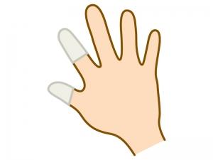 白い指サックのイラスト