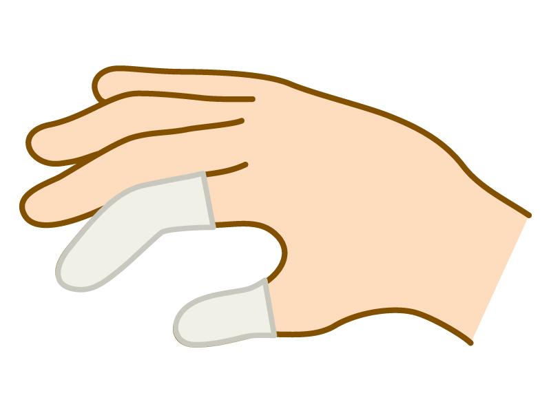 白い指サックのイラスト02