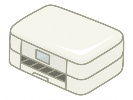 インクジェットプリンターのイラスト