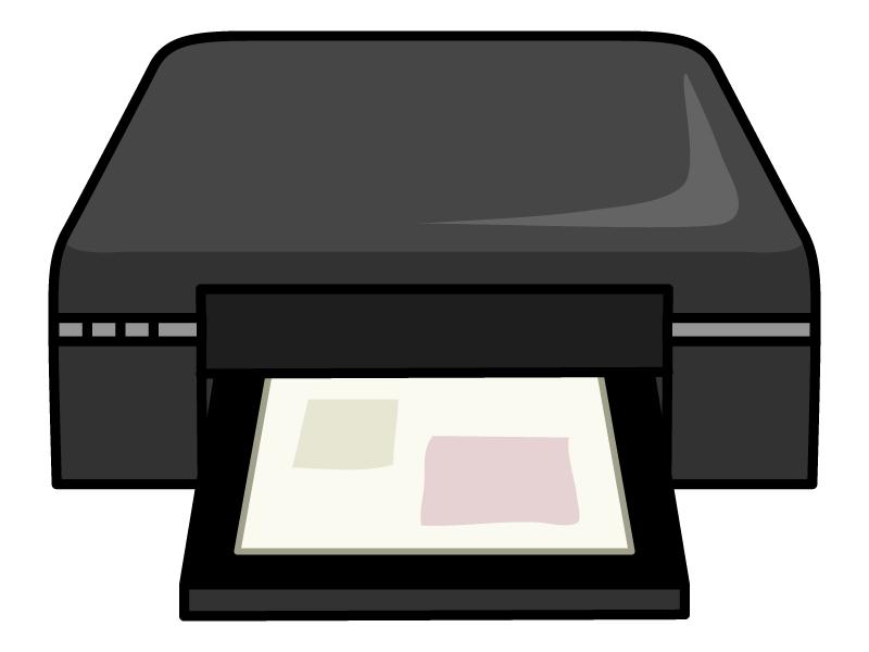 インクジェットプリンターのイラスト02