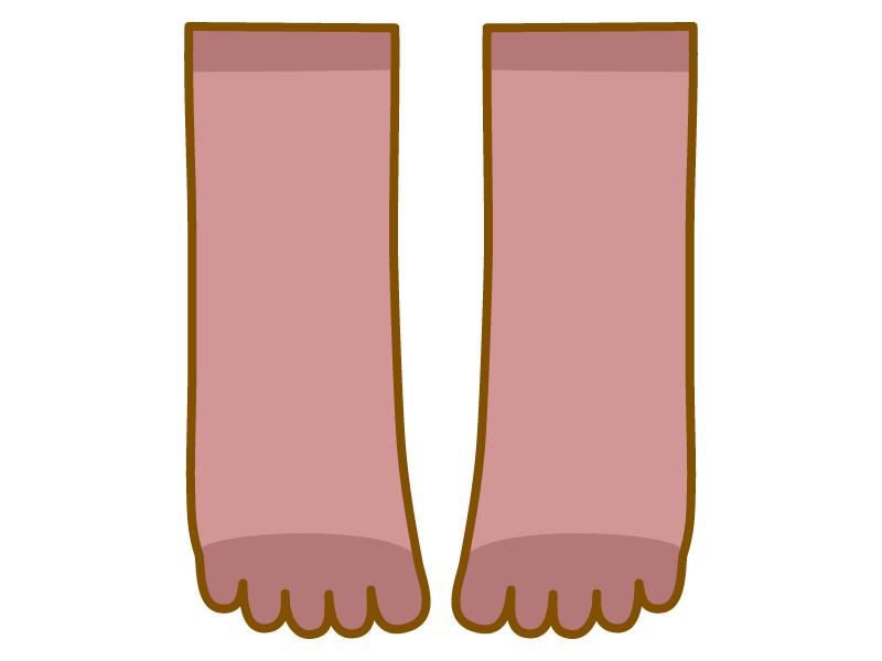五本指ソックス(靴下)のイラスト
