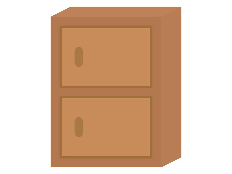 二段ボックス(棚)のイラスト