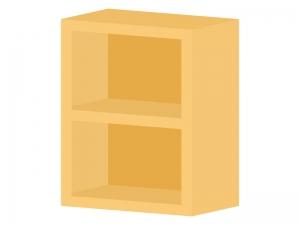 二段のカラーボックスのイラスト