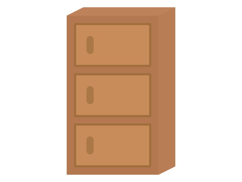 三段ボックス(棚)のイラスト