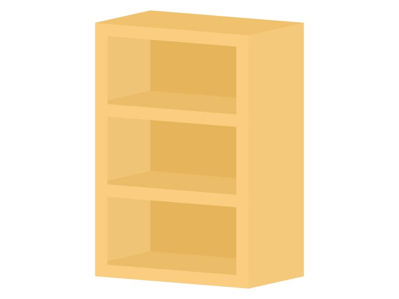 三段のカラーボックスのイラスト