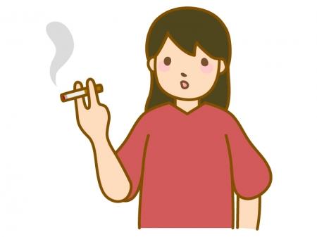 タバコを吸う女性のイラスト