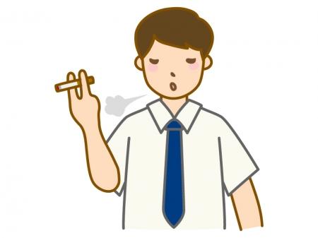 タバコを吸うサラリーマンのイラスト