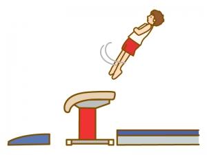 跳馬競技のイラスト02