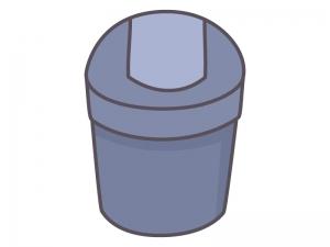 蓋付きのゴミ箱のイラスト