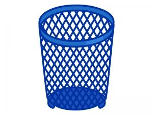 網目のゴミ箱のイラスト