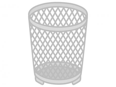 網目のゴミ箱のイラスト02