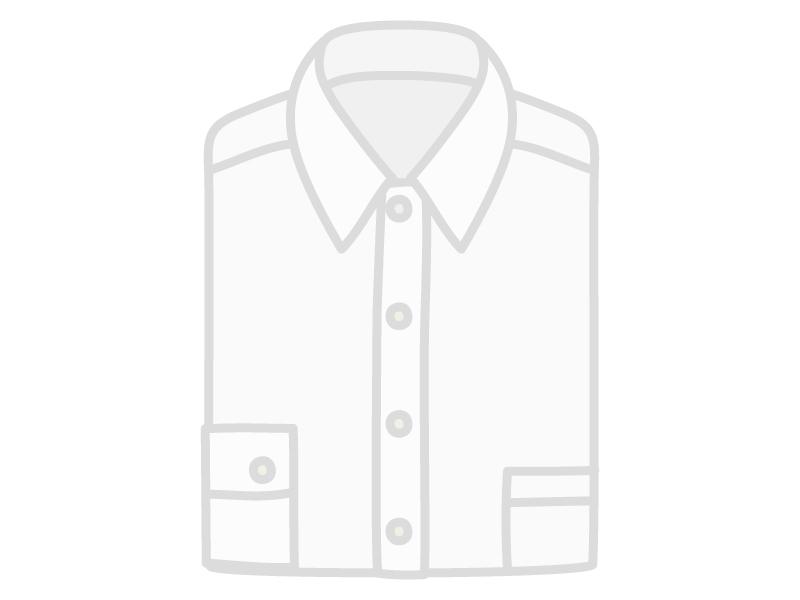 たたんだ白いYシャツ(ワイシャツ)のイラスト