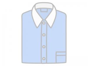 たたんだ青いYシャツ(ワイシャツ)のイラスト